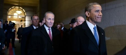 Chuck Schumer with Obama prior to 2013 election https://commons.wikimedia.org/wiki/File:Barack_Obama_before_2013_inauguration.jpg