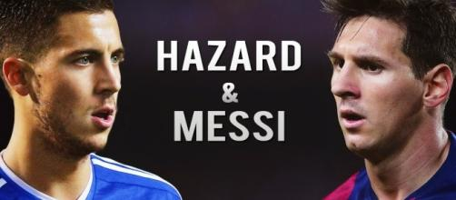 Eden Hazard vs Lionel Messi.- chelseadaft.org
