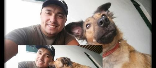 Especialista em comportamento canino Fernando Lima e Guria, sua amiga de 4 patas