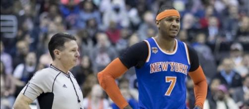 New York Knicks forward Carmelo Anthony dropped to No. 64 in this year's NBA Rank - Keith Allison via Wikimedia Commons