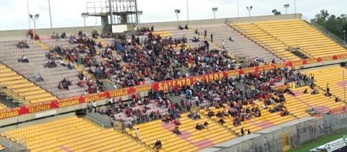 Pochi spettatori per Lecce- Rende.