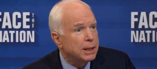 Sen. John McCain (R-AZ) speaks with Face the Nation, Sept 17 / Image - Face the Nation via YouTube ]