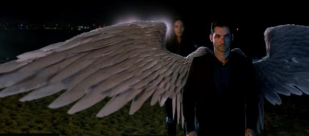Lucifer's wings are restored in 'Lucifer' season 3. (Image credit: TVPromosDB/YouTube)