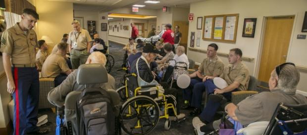 Marines visiting a Florida nursing home. Source:commons.wikimedia.org