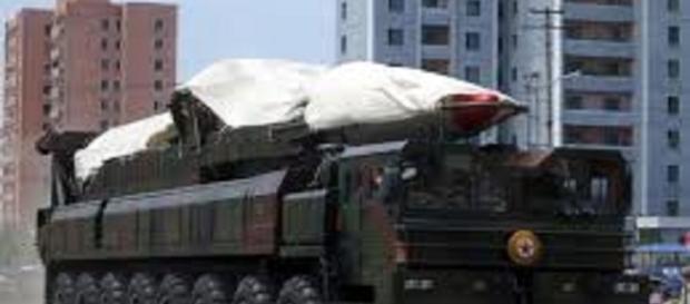 North Korean missile/WikiMedia/https://commons.wikimedia.org/wiki/File:North_Korea%27s_ballistic_missile_-_North_Korea_Victory_Day-2013_01.jpg