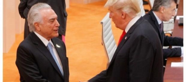 Presidentes Michel Temer e Donald Trump