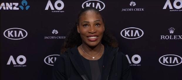 Serena Williams during a press conference at 2017 Australian Open/ Photo: screenshot via Australian Open TV channel on YouTube