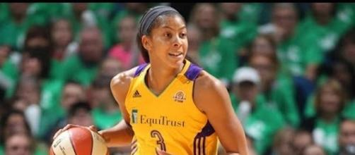 Candace Parker and the Sparks try to make it a 2-0 lead in their semifinals series with Phoenix on Thursday night. [Image via WNBA/YouTube]