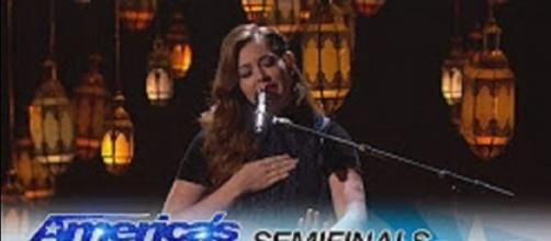 """Mandy Harvey had a performance that Simon Cowell compared to Adele, and she is in the """"America's Got Talent"""" finals. Screencap AGT/YouTube"""