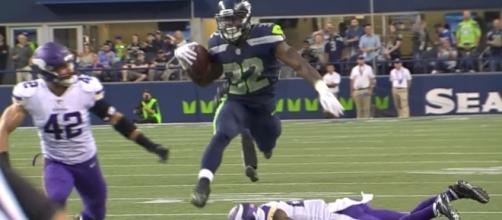 Seattle Seahawks running back Chris Carson has drawn the praise of head coach Pete Carroll - YouTube/NFL Channel