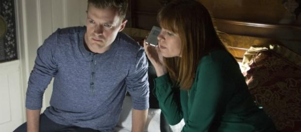 Adam Berry and Amy Bruni investigate the Lizze Borden House on TLC series Kindred Spirits. Photo courtesy of TLC, used with permission.