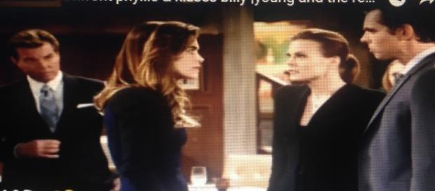 Jack, Victoria, Phyllis, and Billy arguing, The Young and the Restless spoilers. Youtube.com