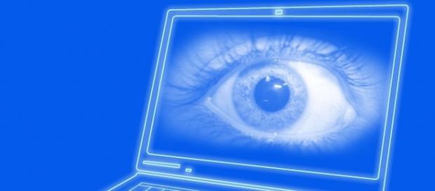 Laptop spying illustration via Wikimedia Commons
