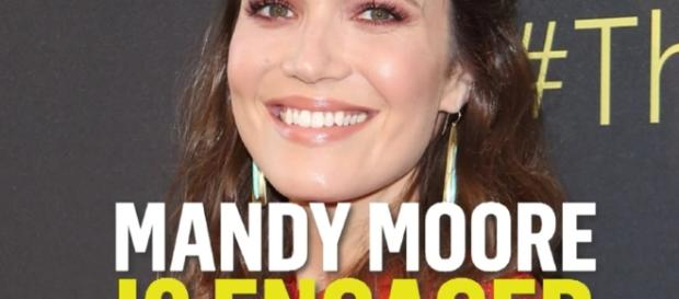 Mandy Moore is finally engaged to her boyfriend after dating for two years. YouTube/E!News