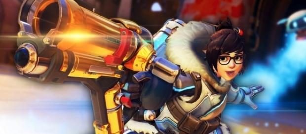 'Overwatch' hero Mei. (image source: YouTube/jacksepticeye)