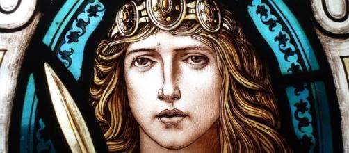 Boudica representada en una vidriera