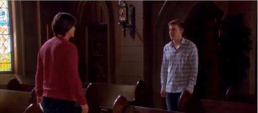 Days of our Lives: Lucas and Will. (Image via YouTube screengrab/NBC)