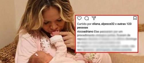 Eliana enfrentou uma gravidez de risco ( Foto - Instagram )