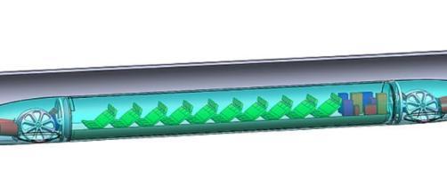 Hyperloop capsule in tube (RichMacf wikmedia commons)