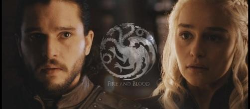 Jon Snow, Daenerys Targaryen - Image via YouTube/Romanov's Wife