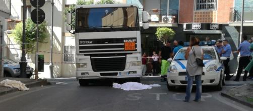 La scena dell'incidente (foto de L'Ora Vesuviana)