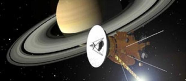 Cassini at Saturn (Courtesy NASA)