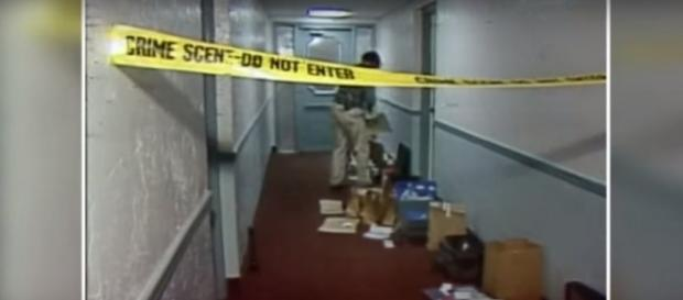 Crime scene in Parma, OH, where Gary Otte killed two people in 1992. (Image from WKYC Channel 3/Youtube)