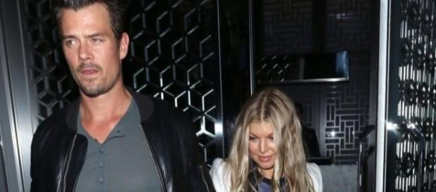 Fergie and Josh Duhamel. [Image via YouTube/Entertainment Tonight]