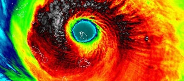 Hurricane Irma showing the location and size of Barbuda [Image: Wikimedia by NASA/Public Domain]