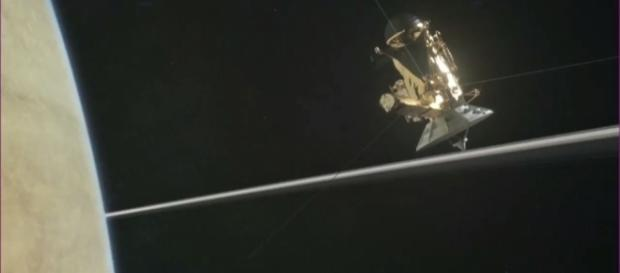 It is time to say goodbye as the 20-year-old Cassini probe makes to crash into Saturn's atmosphere. / from 'YouTube' NASA