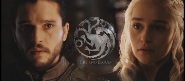 Jon Snow, Daenerys Targaryen - Image via YouTube/Romanov's Wife