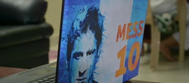 Leonel Messi en una laptop de un hincha cortesía de Pixabay