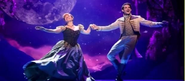 Patti Murin as Anna and John Riddle as Hans in Disney's 'Frozen' musical. / Disney 'YouTube'