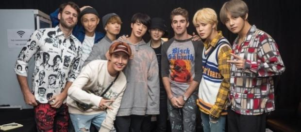 The Chainsmokers' Andrew Taggart collaborates with K-pop boy group BTS. (Twitter/The Chainsmokers)