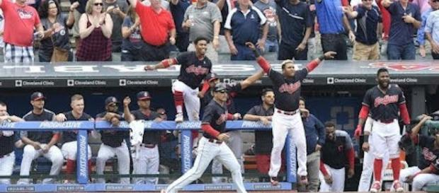 The Indians captured their 22nd win in a row after some late game heroics in the 10th on Thursday. [Image via MLB/YouTube]
