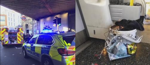 An 18-year-old man has been arrested in connection with the explosion on a London Tube train on Friday [Image: YouTube/ReblopTV]