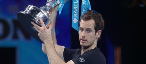 Andy Murray at the conclusion of the ATP Finals in London back in 2016/ Photo: screenshot via Tennis TV channel on YouTube