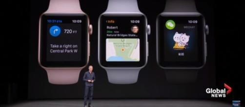Apple COO Jeff Williams unveils the Apple Watch Series 3. (via CNET/Youtube)