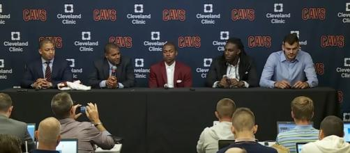 Cavaliers officially introduce Isaiah Thomas, Jae Crowder and Ante Zizic via ESPN/Youtube