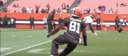 Cleveland Browns wide receiver Rashard Higgins could be a factor in fantasy leagues this season - YouTube/Cleveland Browns Channel