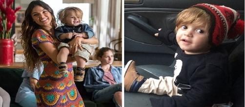 Na publicação, a maquiadora agradeceu o carinho da atriz com o filho