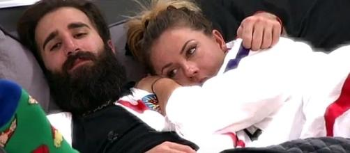 "Paul and Christmas cuddle on ""Big Brother 19"" [Image: Sydney C/YouTube screenshot]"