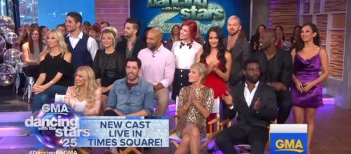 """The cast of """"Dancing With the Stars"""" are ready to show their best dance moves! Screengrab, Good Morning America/YouTube"""