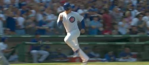 The Chicago Cubs defeated the St. Louis Cardinals 8-2 in Friday's afternoon game at Wrigley Field. [Image via MLB/YouTube]