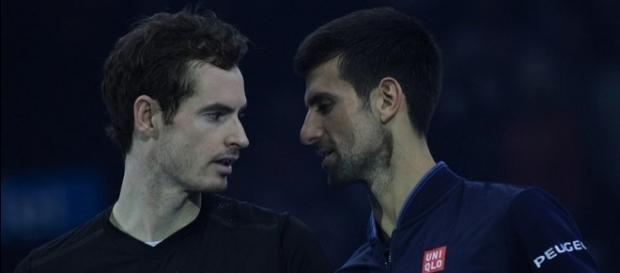 Andy Murray and Novak Djokovic after the 2016 ATP World Tour Finals Final. Image Credit: Marianne Bevis, Flickr -- CC BY-ND 2.0