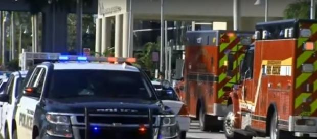 First responders assisting elderly residents at Hollywood Hills care home on Wednesday. (Image from CBS Miami/Youtube)