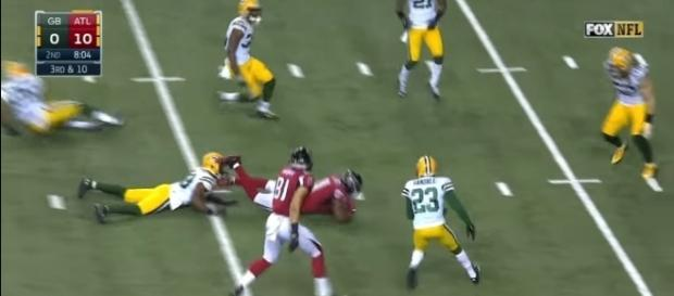 Julio Jones vs Green Bay Packers via NFL/Youtube