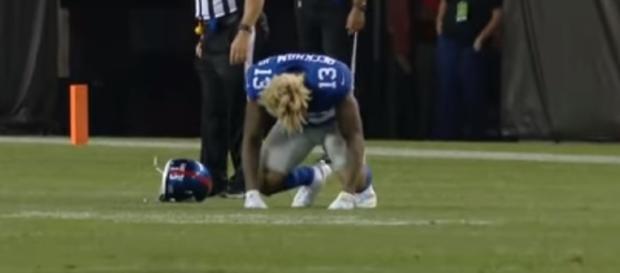 New York Giants rumors: Will Odell Beckham Jr. play against Detroit Lions? - youtube screen capture / NFL