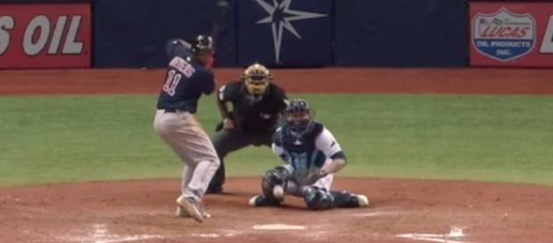 The Boston Rex Sox picked up a 13-6 win over Tampa Bay on Friday night, but it took them 15 innings to get there. [Image via MLB/YouTube]