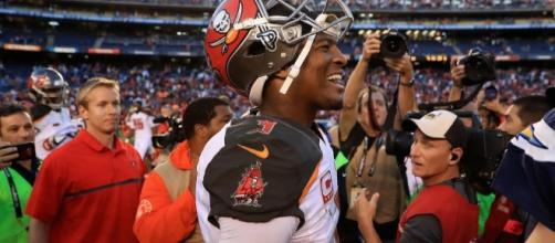 Jameis Winston and the Tampa Bay Buccaneers play their home opener on Sunday. [Image via NBC Sports/YouTube]